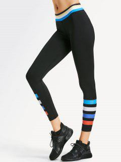 Slim Fit Color Block Sporty Leggings - Black S