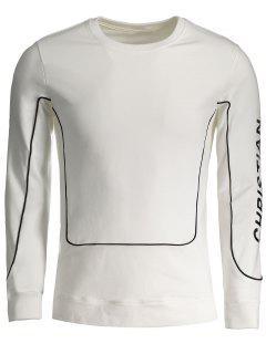 Christian Graphic Sweatshirt - White Xl