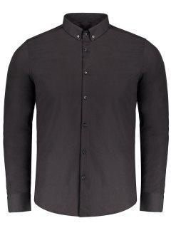 Button Down Shirt - Black Xl