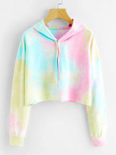 Cropped Colorful Ombre Hoodie - S