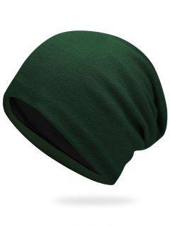 Plain Autumn Knit Hat - Army Green