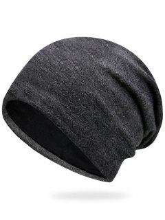 Plain Autumn Knit Hat - Deep Gray
