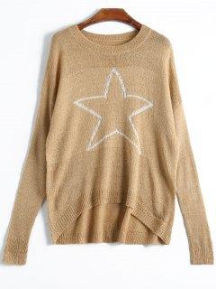 Pentagram High Low Knitwear - Khaki