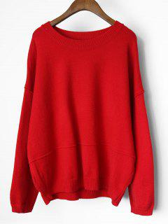 Suéter Con Capucha De Gran Tamaño - Rojo