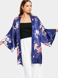 Kimono Floral Blusa Delantera Abierta - Floral S