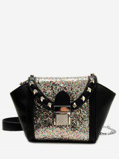 Rivet Sequin Metal Crossbody Bag