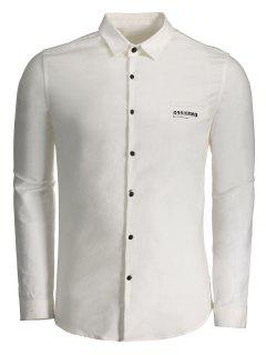 Gobierno Graphic Button Up Shirt - White 2xl