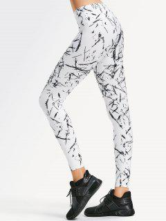 Active Abstract Fit Leggings - White S