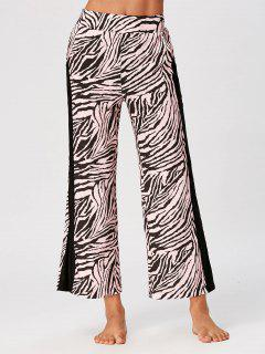 Casual High Waist Tiger Stripe Ninth Pants - 2xl