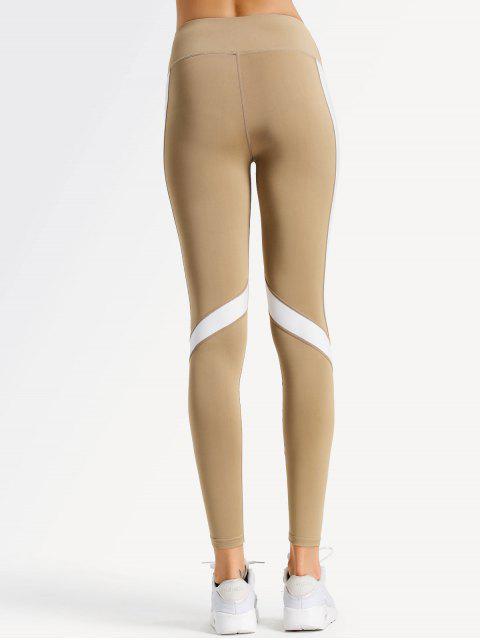 Leggings de Yoga de Dos Tonos - Caqui Claro L Mobile