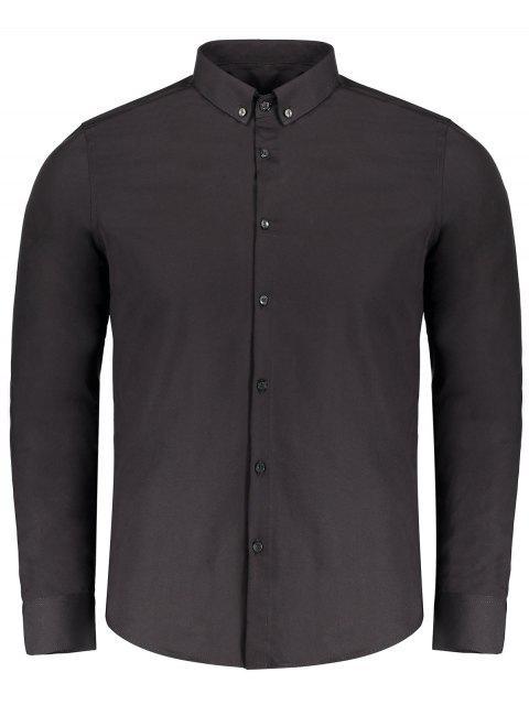 unique Button Down Shirt - BLACK 3XL Mobile