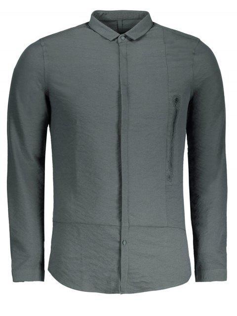 Camisa gráfica para hombre - Gris Carbón XL Mobile