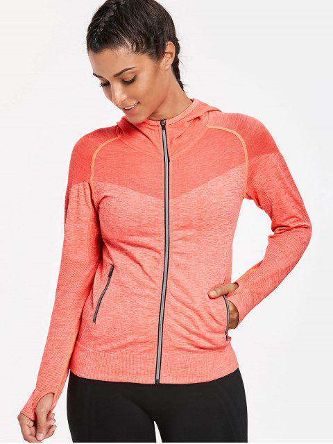 Veste à capuche à breloques Thumbhole - Orange fluorescent S Mobile