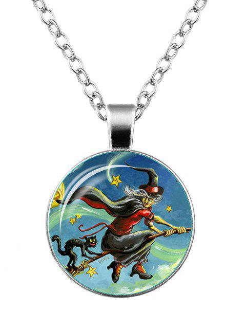 Collier Star Witch Devil Cat Star de Halloween - Argent  Mobile