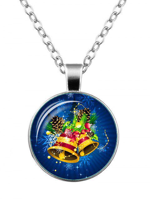 buy Christmas Snowflake Bells Pendant Necklace - SILVER  Mobile