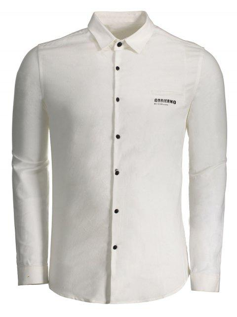 buy Gobierno Graphic Button Up Shirt - WHITE 2XL Mobile
