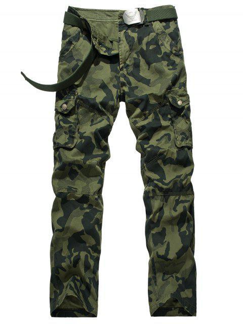 Zipper Fly camuflaje Swallow Gird pantalones de carga - Verde del ejército 32 Mobile