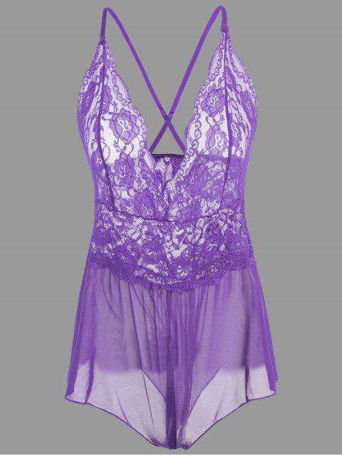 Plunge Dace Crossback Teddy - Pourpre M Mobile
