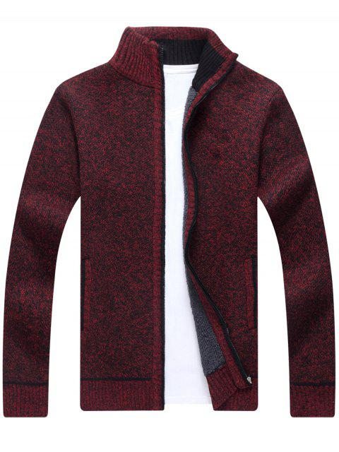 Cardigan Tricoté Zippé - Rouge vineux  L Mobile