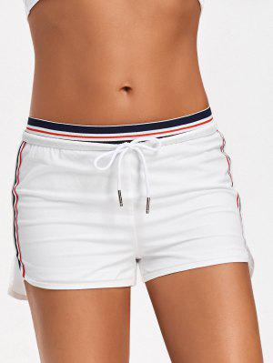 Striped Double Layered Sporty Shorts