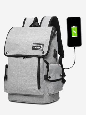 Stud USB Charging Port Side Pocket Backpack