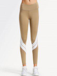 سروال ليغنز رياضي لليوغا بلونين - ضوء الكاكي M