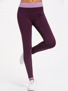 Leggings De Entrenamiento De Contraste - Púrpura S