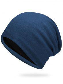 Sombrero De Punto De Otoño Liso - Azul Zafiro
