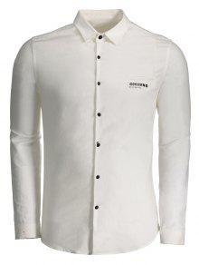 غوبيرنو الرسم زر أعلى قميص - أبيض Xl