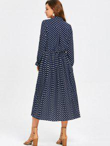 c4088b106333 41% OFF  2019 Bow Tie Collar Polka Dot Dress In DOT PATTERN