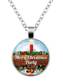 Collar De La Estrella De Belces Del Copo De Nieve De La Feliz Navidad - Plata
