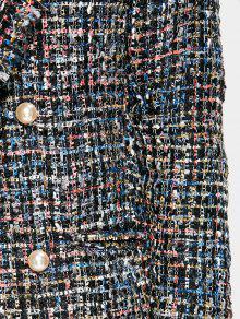 Brezo M Negro Tweed Abrigo Brezo De De Cubierto De wTn7g8Yz
