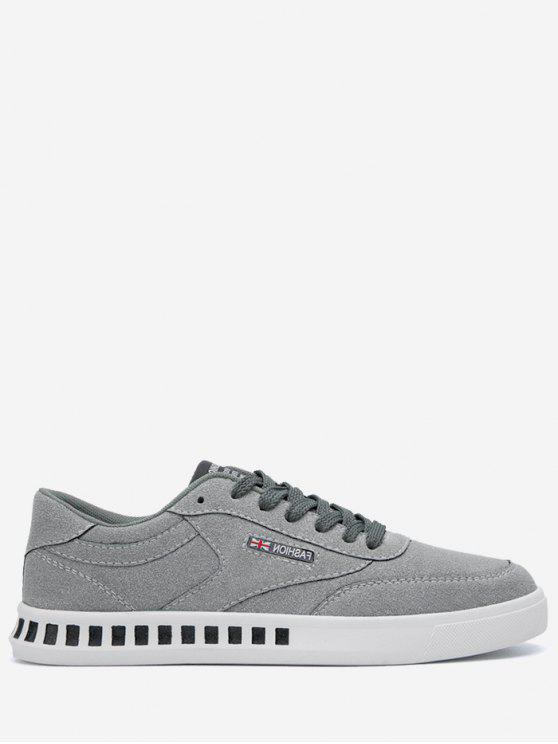 fashion Stitching Color Block Letter Skate Shoes - GRAY 42