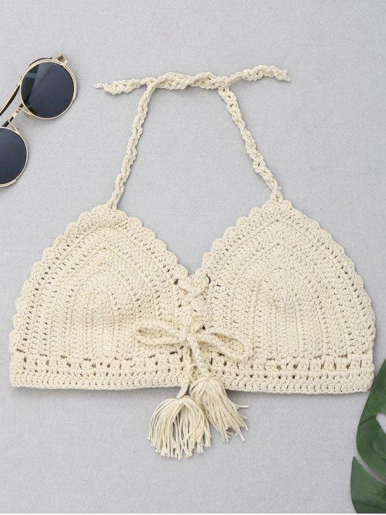 Top in bikini con crochet in nappa di Halter - Palomino Una Taglia