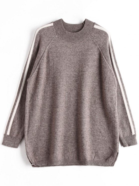 adf45a7fd1baff 29% OFF  2019 Striped Oversized Sweater In GRAY