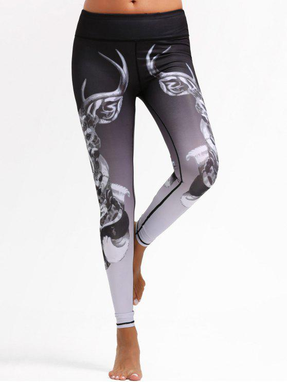 Animal Imprimir Ombre Sports Leggings - Colores Mezclados S