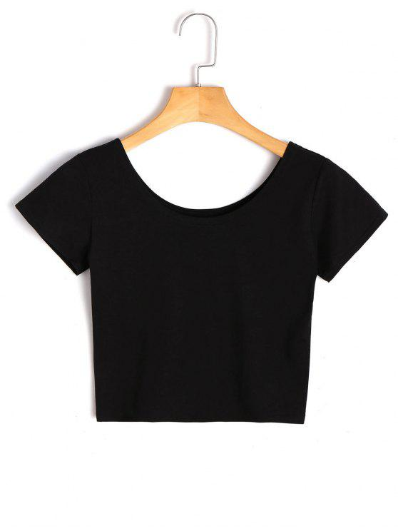 trendy Scoop Crop Top - BLACK XL