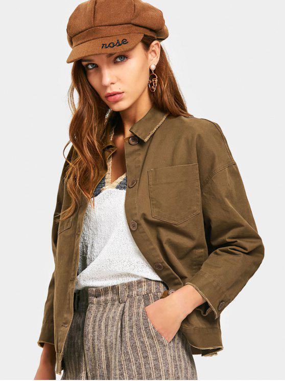 chic Weekend Graphic Jacket - BROWN L