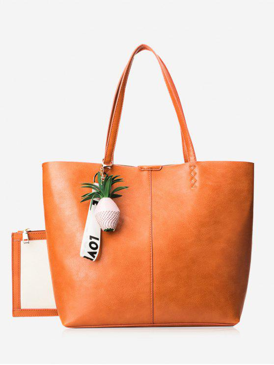 Conjunto de sacola de pingente de abacaxi - Laranja