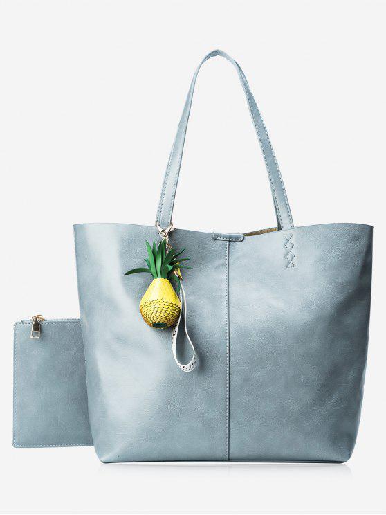 Tragetasche Set mit Ananas Anhänger - Blau