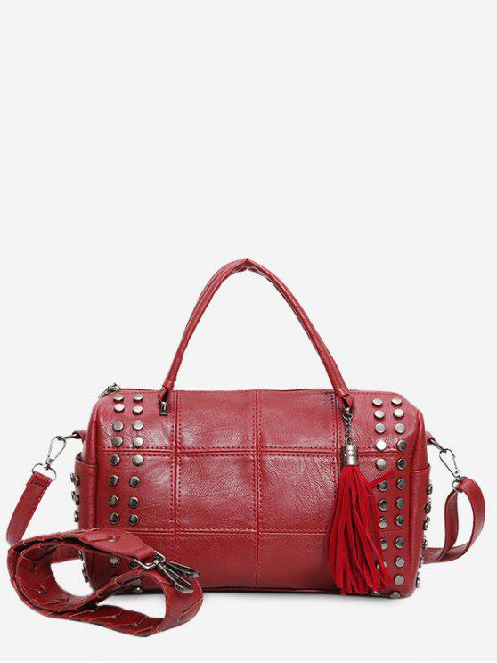 Borsa in Tote Quilted Borsa Stud - Rosso