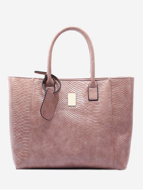 Bolsa de hombro de cuero de imitación de piel de aligá - Rosa
