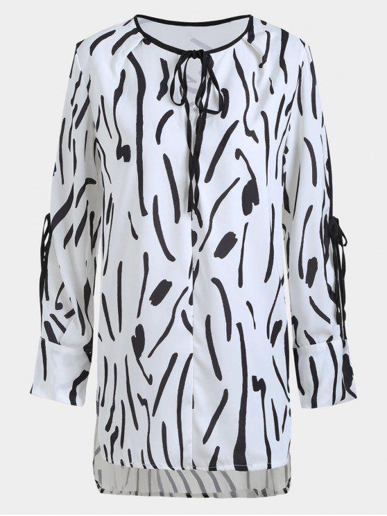 novísimo selección Código promocional estilo distintivo Blusa de manga corta con estampado WHITE AND BLACK