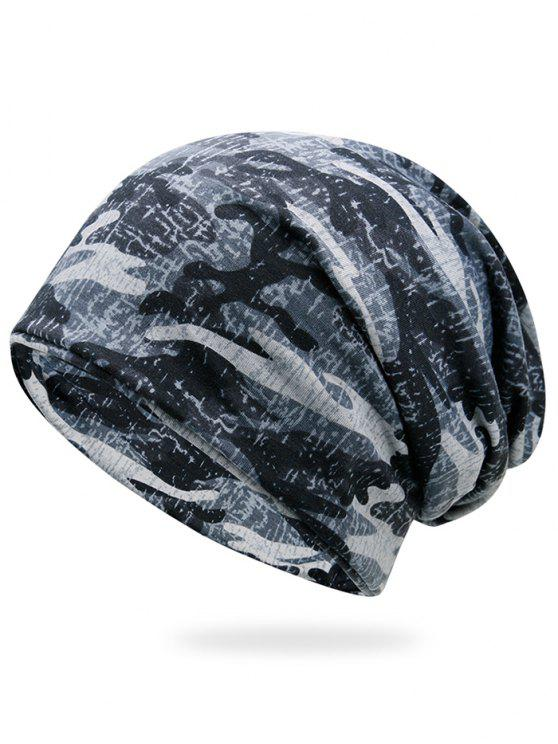womens Outdoor Camouflage Pattern Slouchy Beanie - SNOW-LAND CAMOUFLAGE