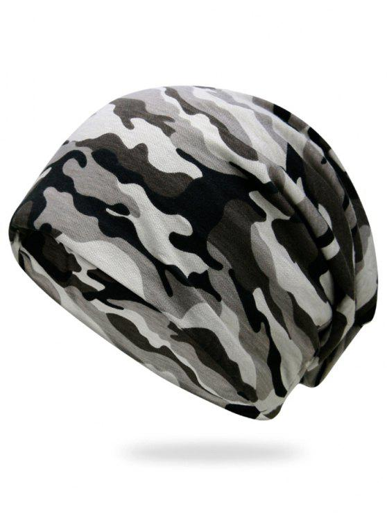 women's Outdoor Camouflage Pattern Slouchy Beanie - THREE SAND CAMOUFLAGE