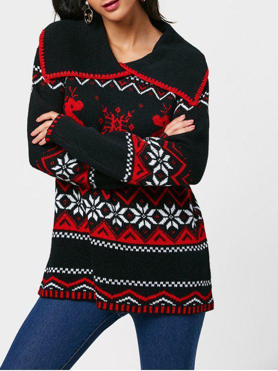finest selection ce02d 9476e Natale Renna di fiocco di neve Ritorna Collare Maglione