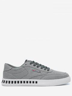 Stitching Color Block Letter Skate Shoes - Gray 41