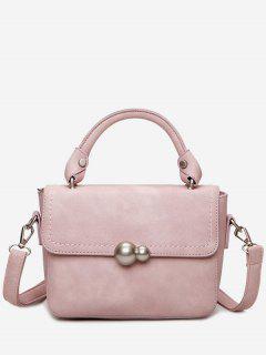 Metal Stitching Tote Bag - Pink