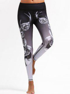 Animal Print Ombre Sports Leggings - S