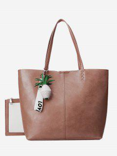 Pineapple Pendant Tote Bag Set - Pink